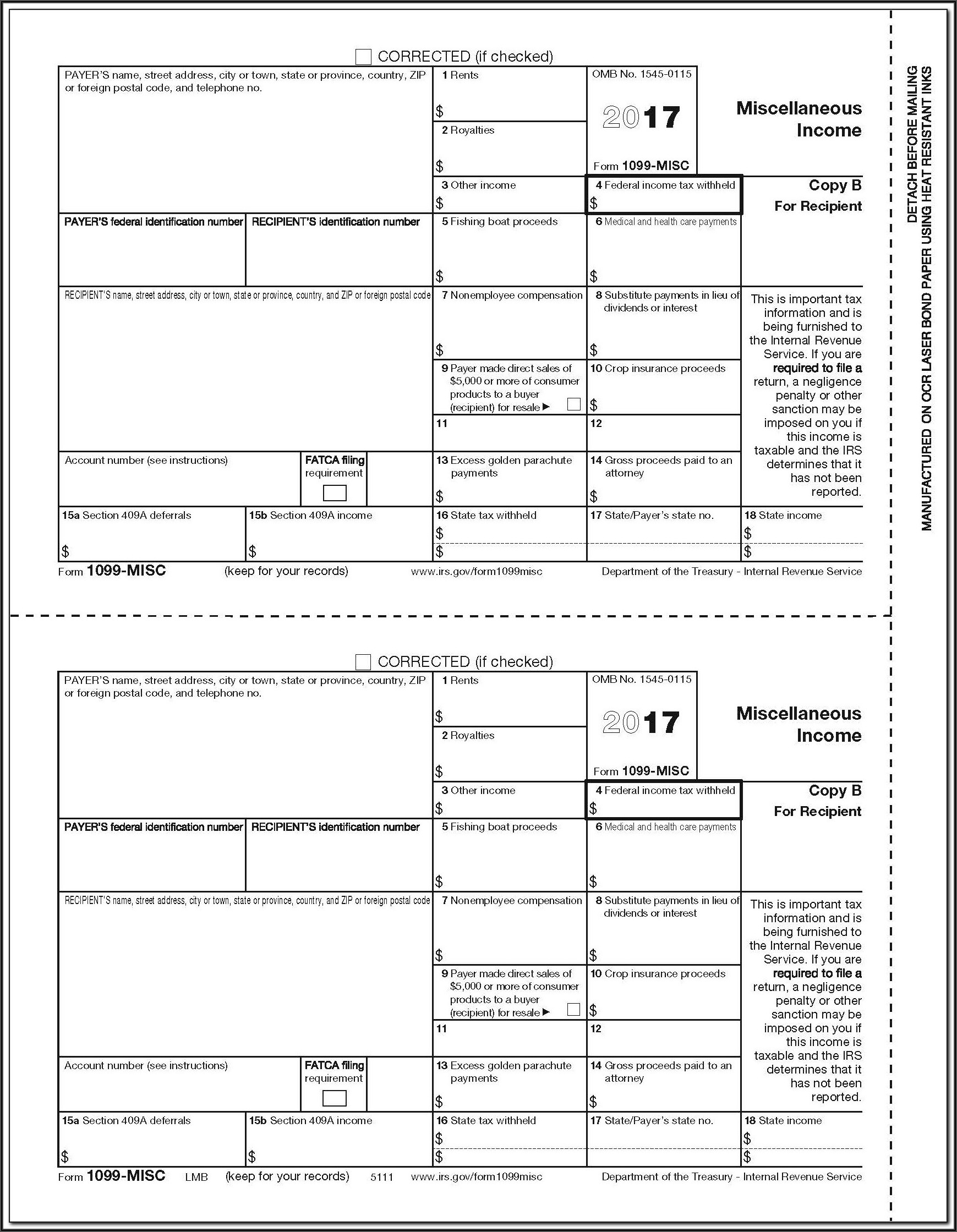 1099 Misc Form Online Free
