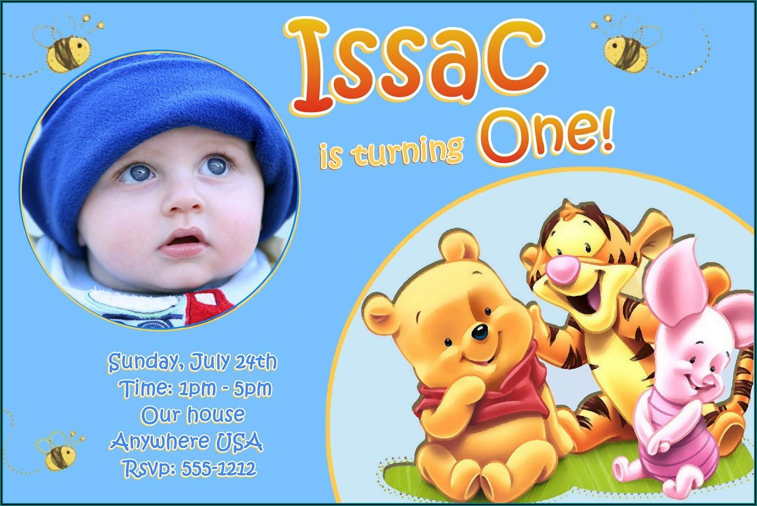 1st Birthday Invitation Card For Baby Boy Indian