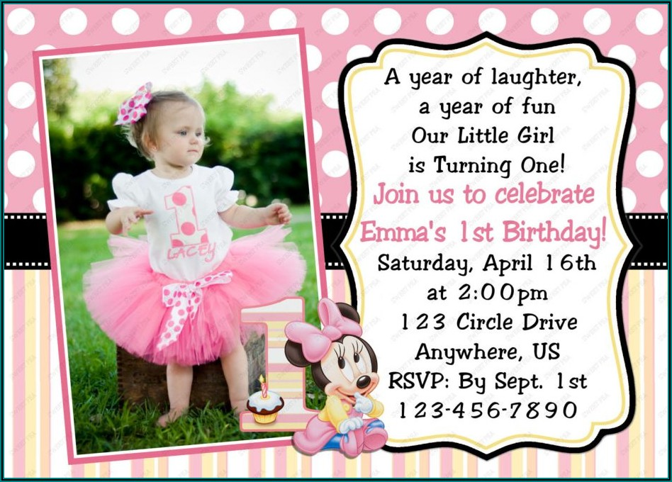 1st Birthday Invitation Wording For Baby Girl In India