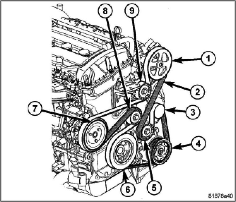 2013 Dodge Journey 2.4 Serpentine Belt Diagram