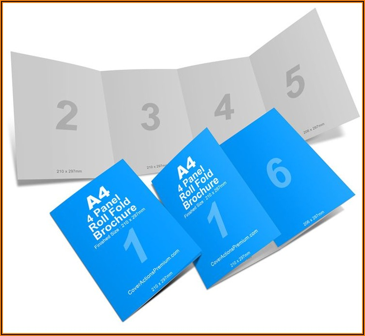 4 Fold Brochure Template Indesign Free