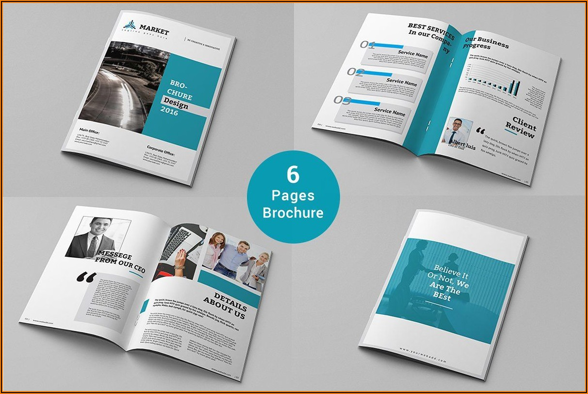 6 Pages Brochure Template