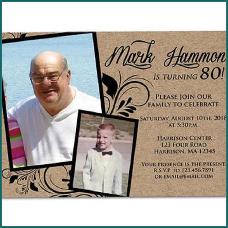 70th Birthday Invitations For Man