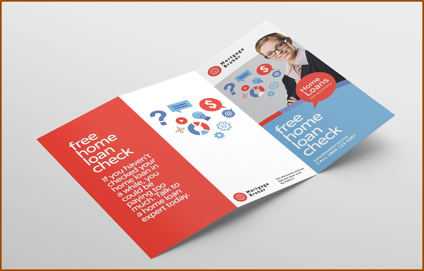 A4 Tri Fold Brochure Template Illustrator
