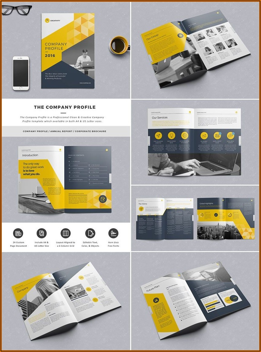 A4 Tri Fold Brochure Template Indesign Free