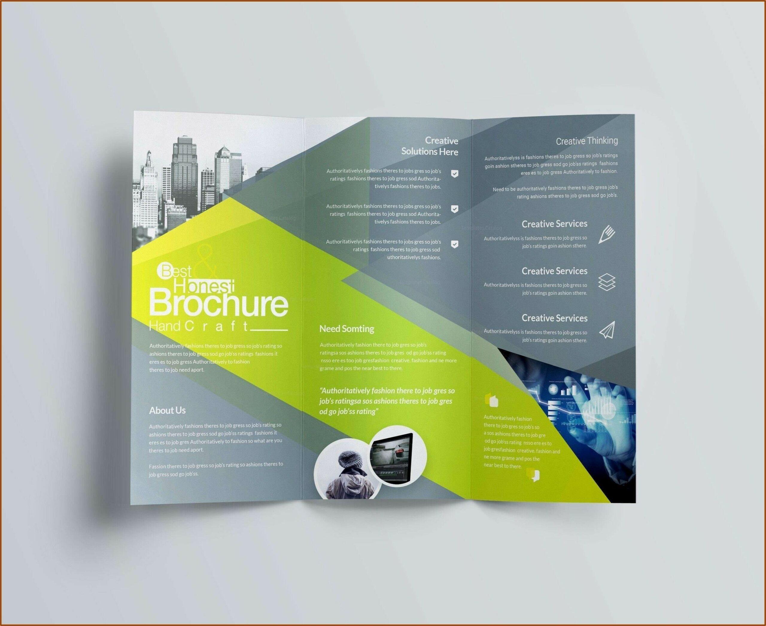A4 Tri Fold Brochure Template Indesign