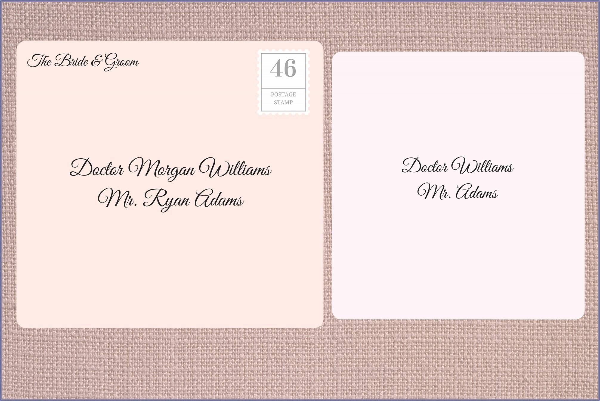 Addressing Envelopes Etiquette Dr And Mr