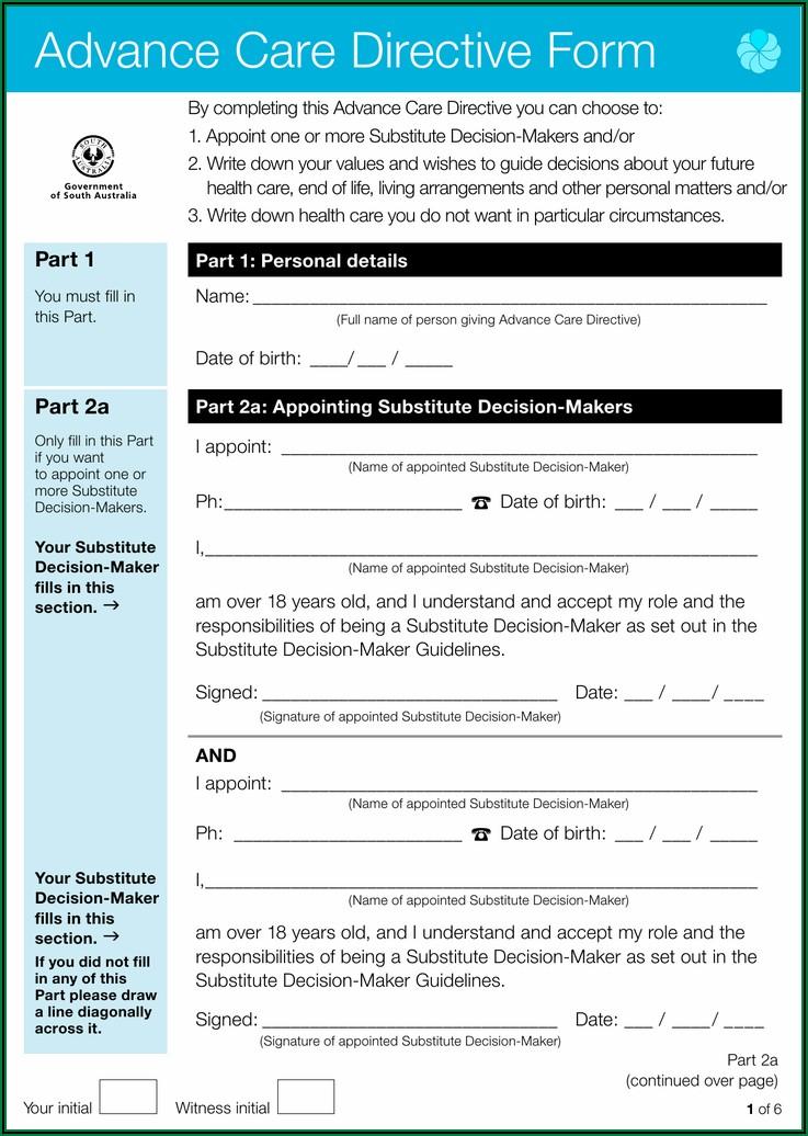 Advance Care Directive Form Guide