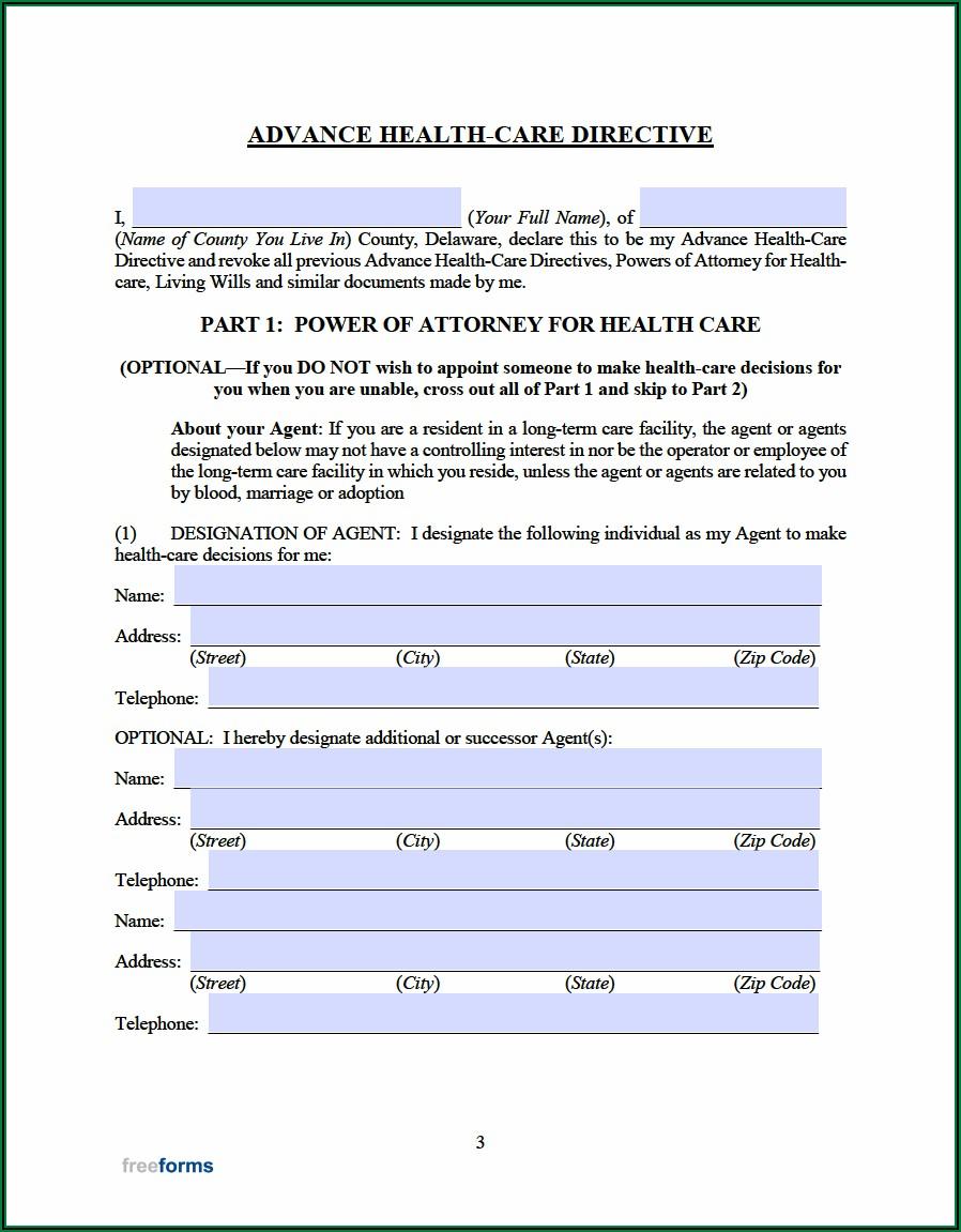 Advance Medical Directive Form Pdf