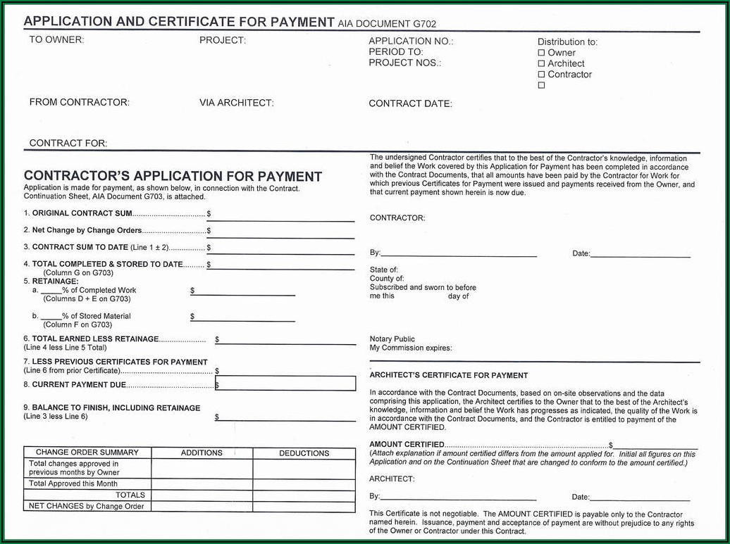 Aia Payment Request Form