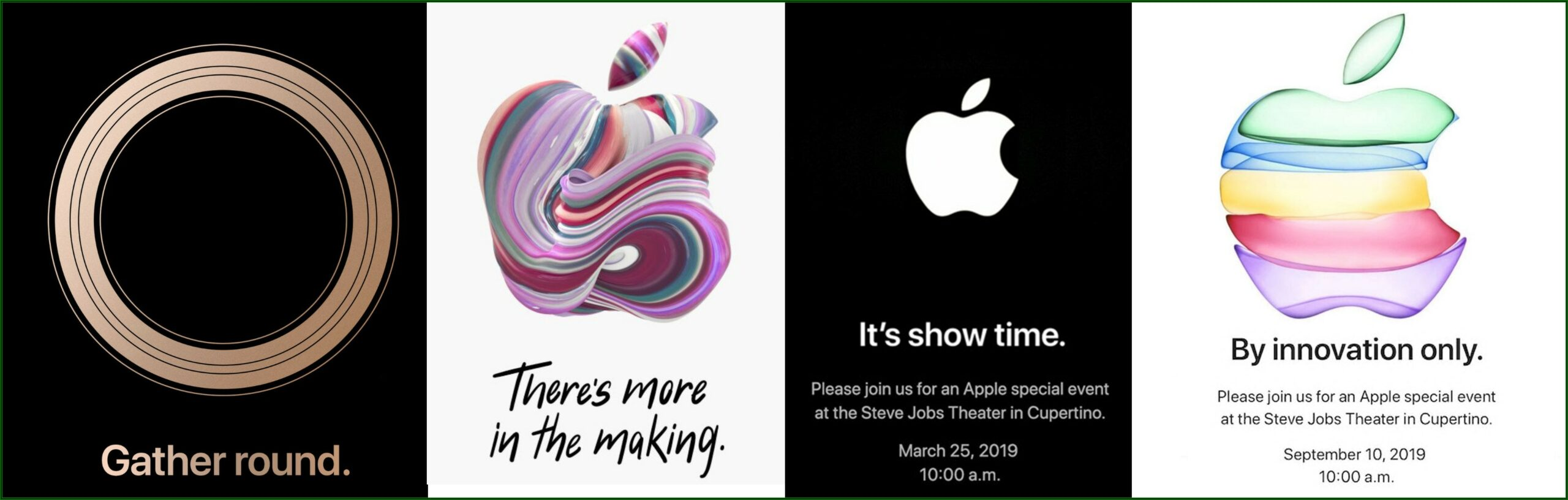 Apple Announcement Date 2019