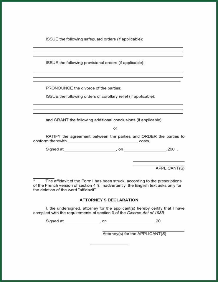 Application Form For Divorce