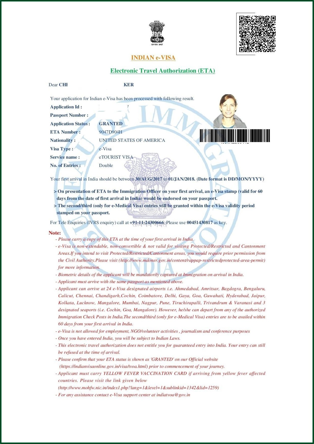Apply For India Tourist Visa From Usa