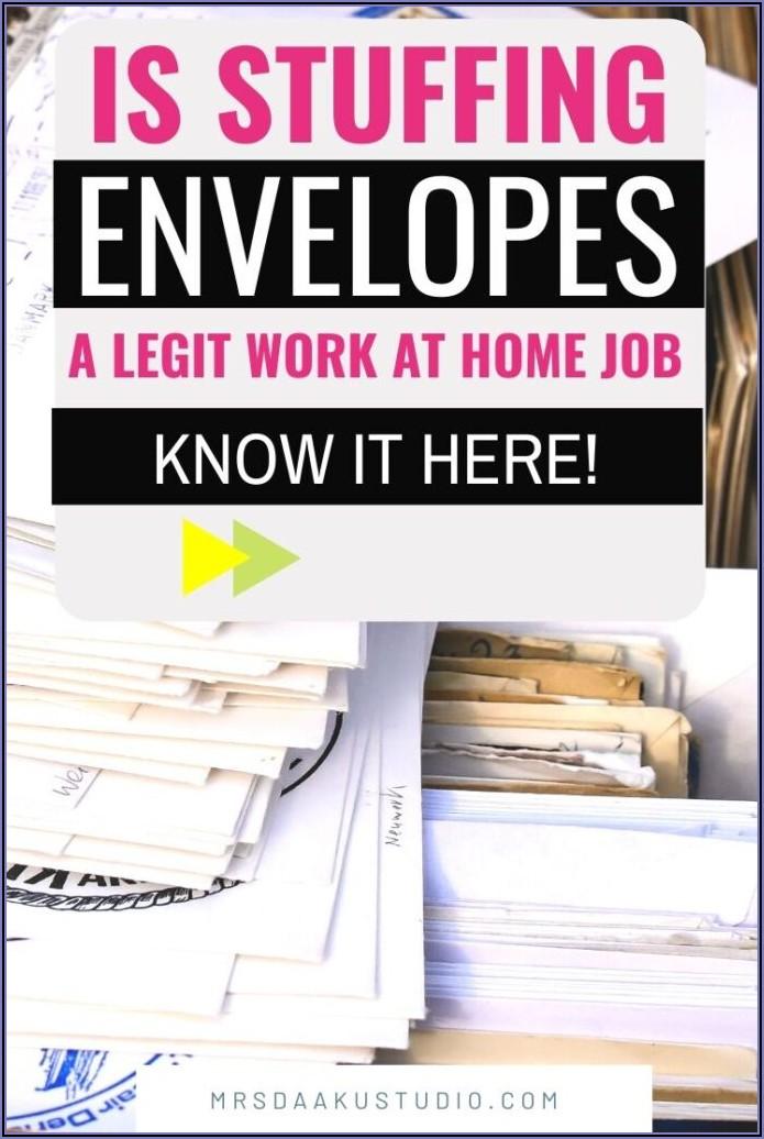 Are Any Envelope Stuffing Jobs Legitimate