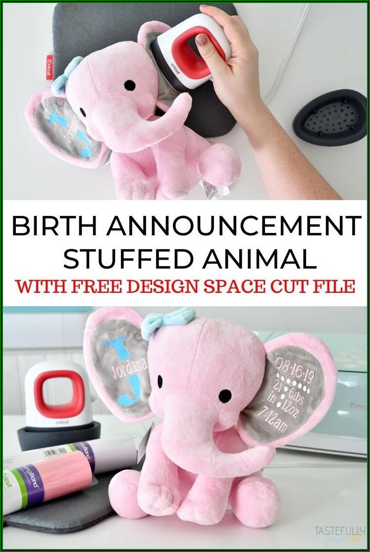 Birth Announcement Stuffed Animal Blanks