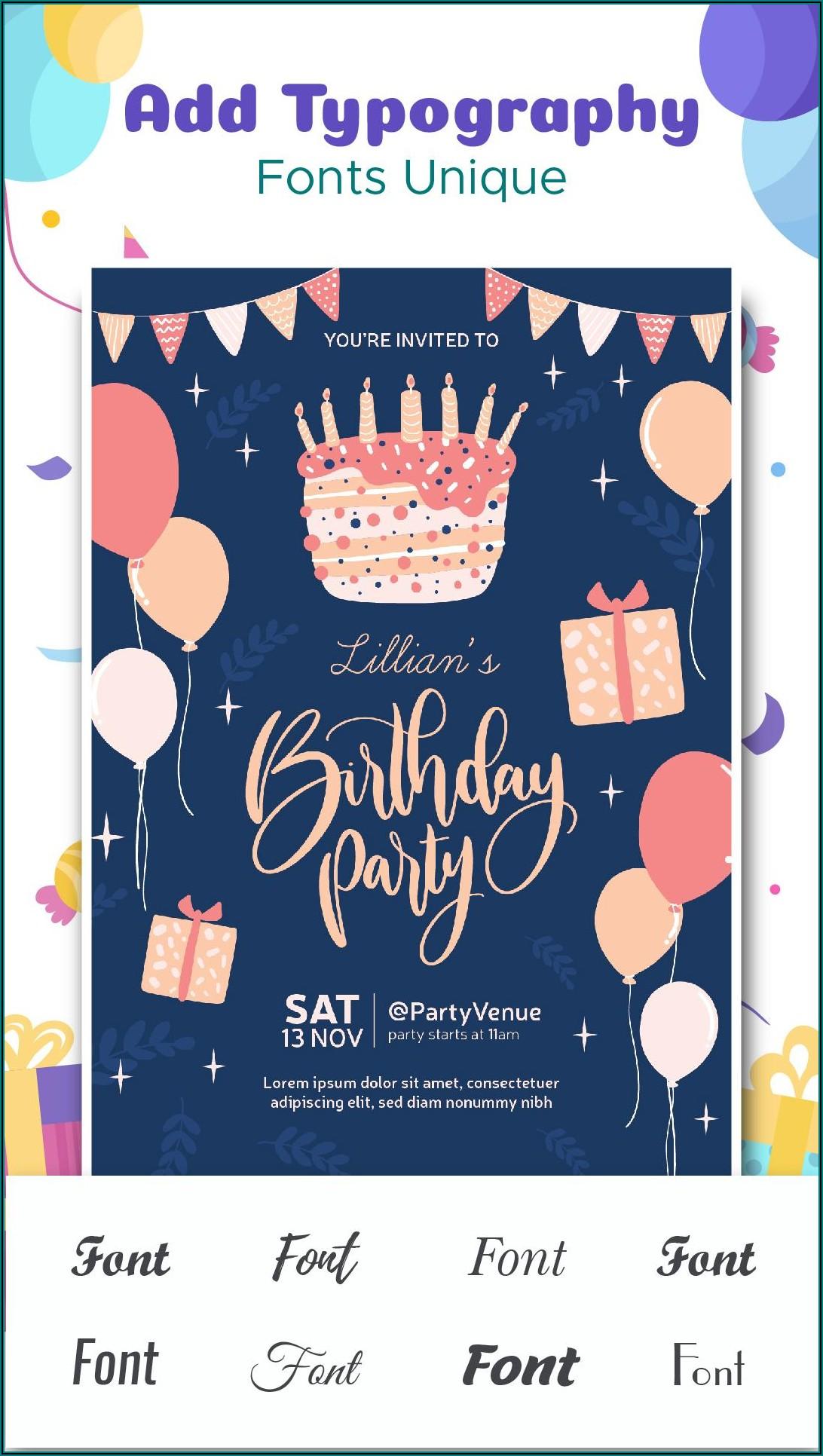 Birthday Invitation Card Maker Free Download