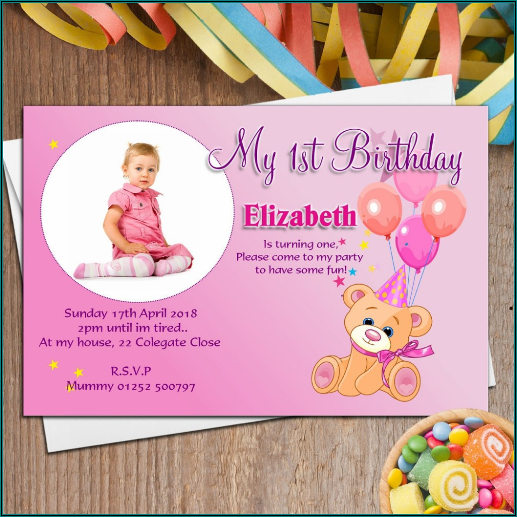 Birthday Invitation Card Maker With Photo Online
