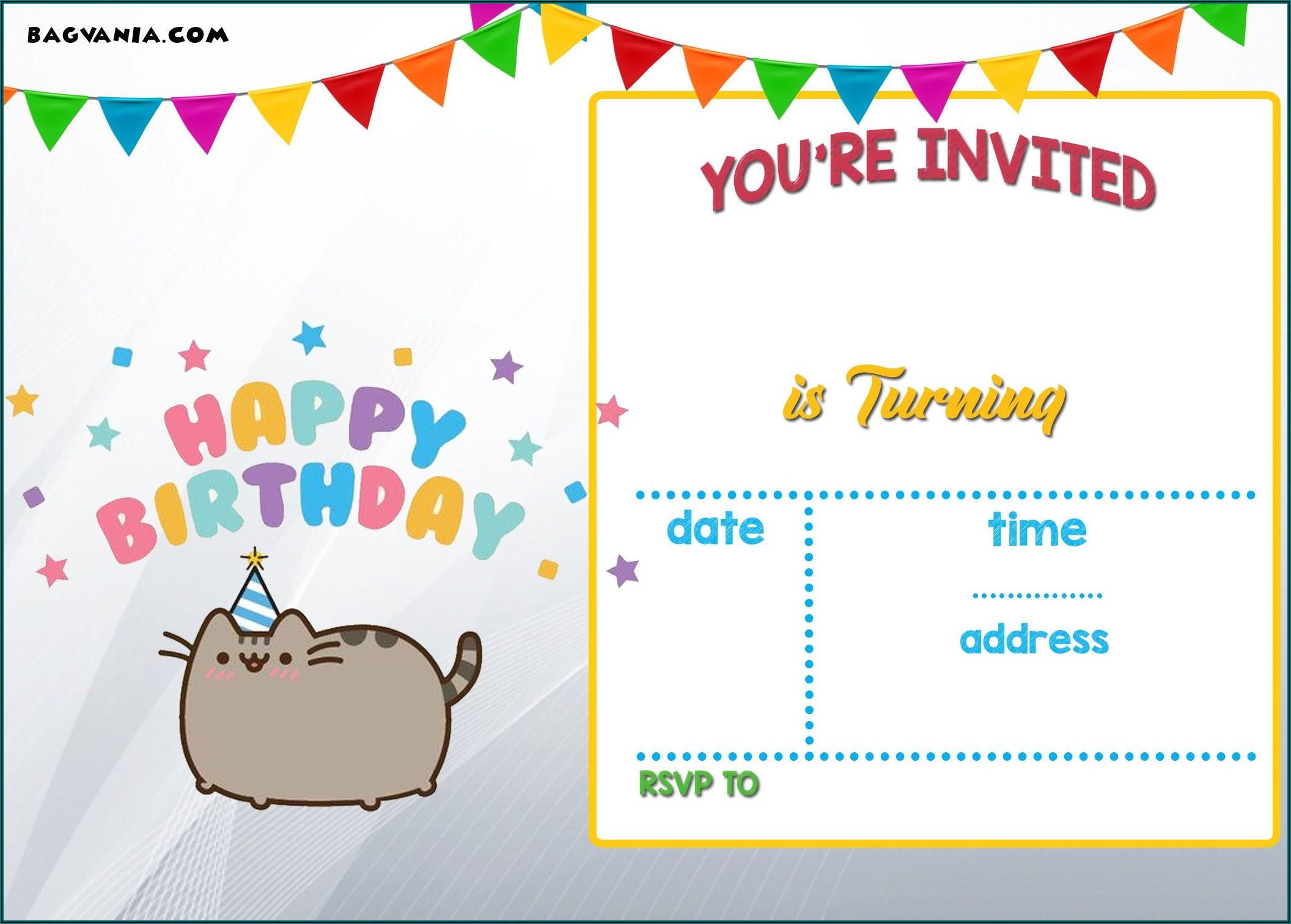 Birthday Invitation Cards Templates Free Download