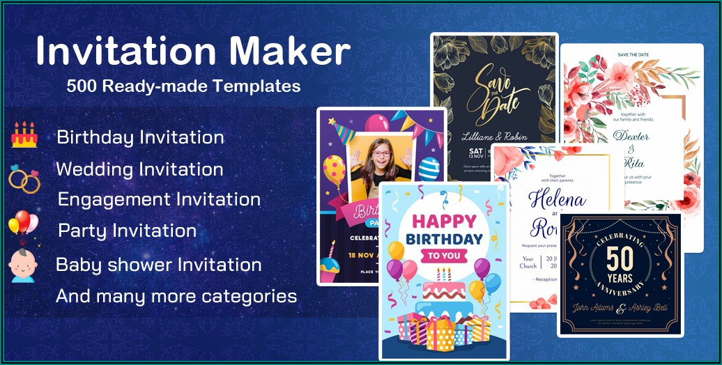 Birthday Invitation Maker Free Download