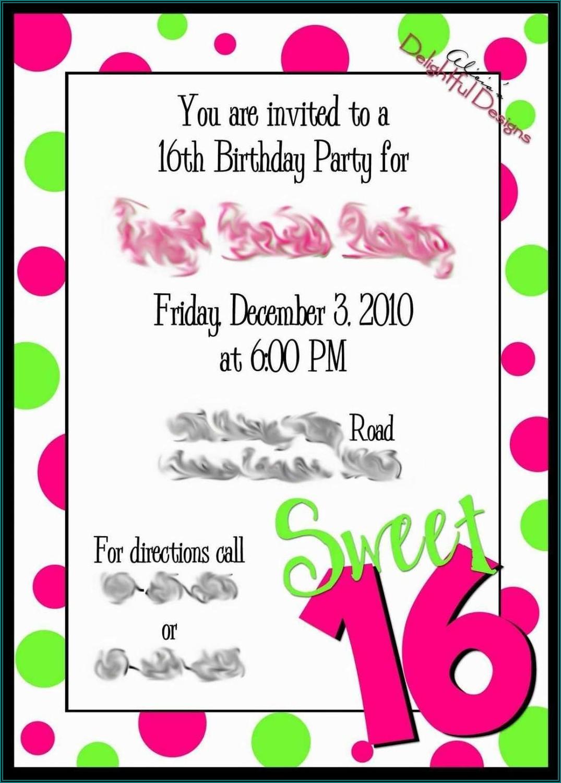 Birthday Invitation Template Word Free