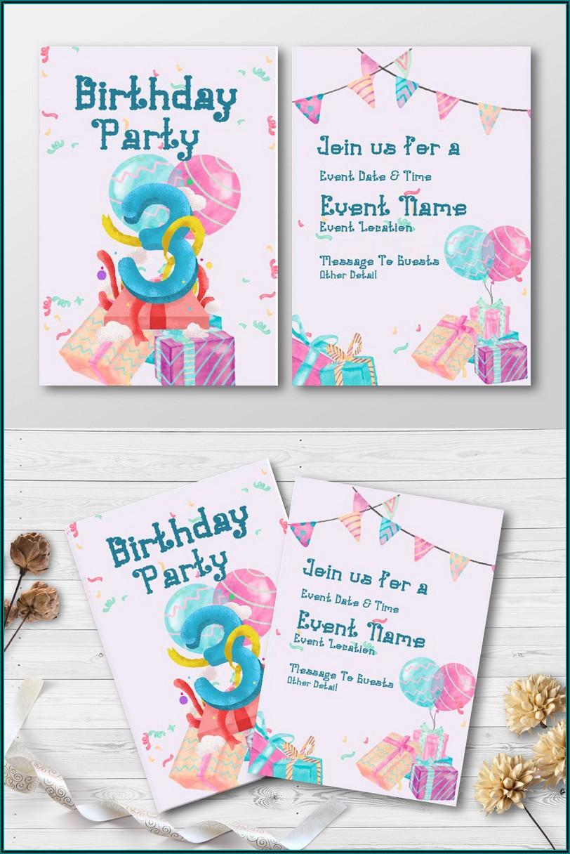 Birthday Invitation Templates Free Download Psd