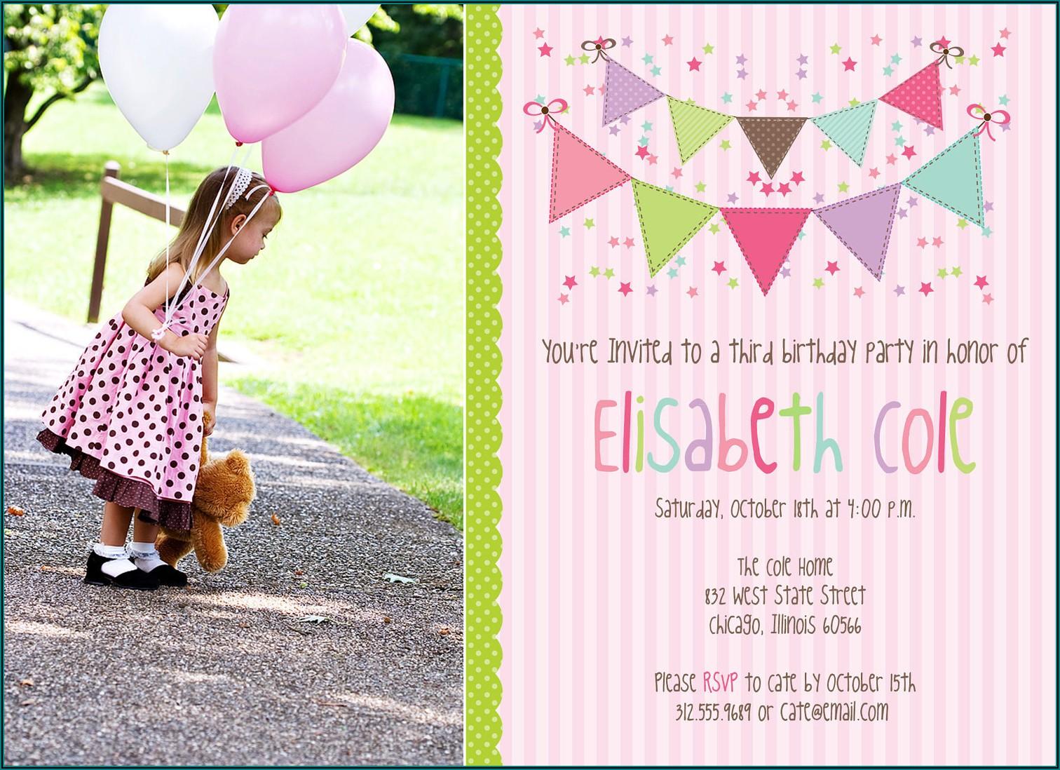 Birthday Invitation Templates Photoshop Free