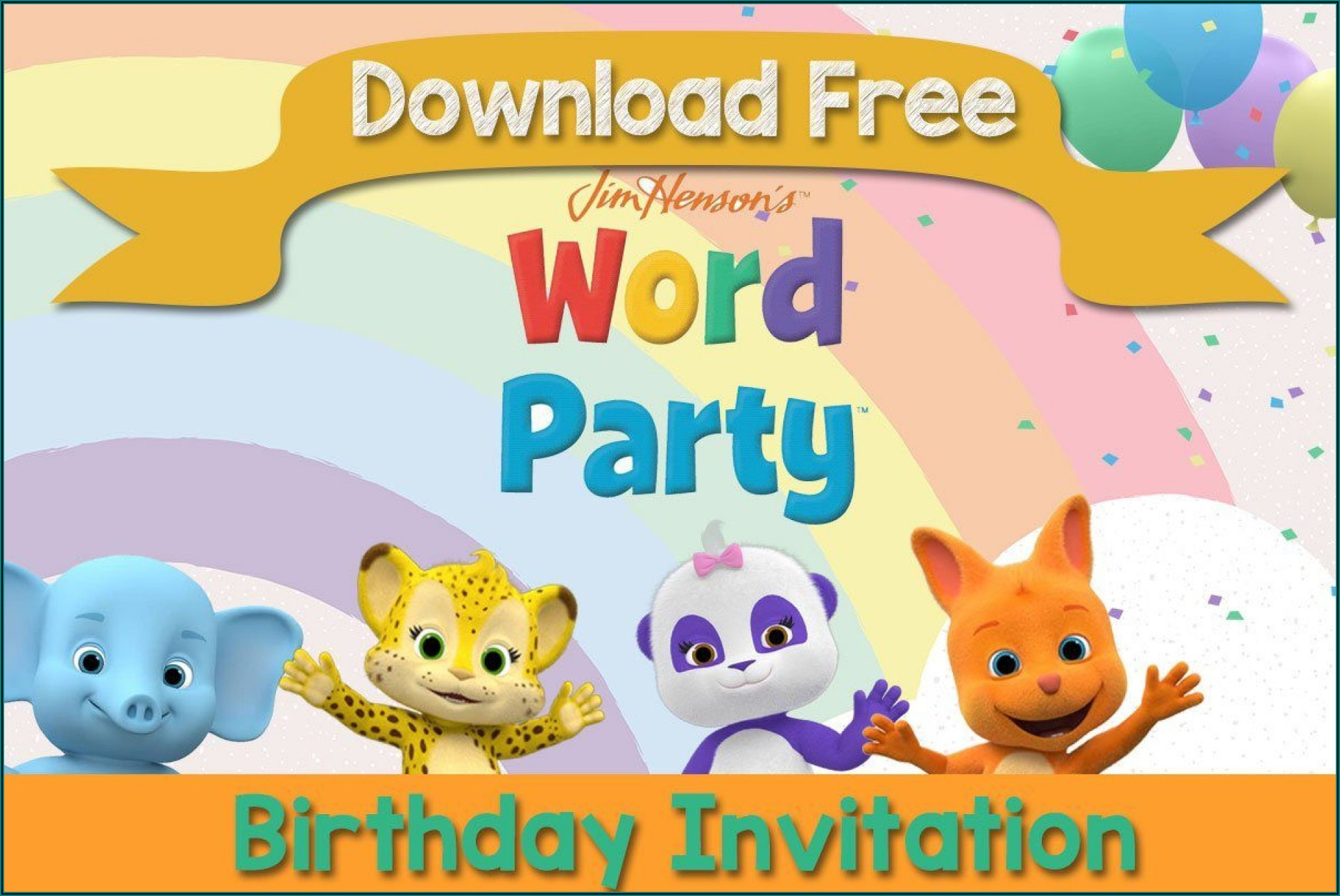 Birthday Party Invitation Template Word Free