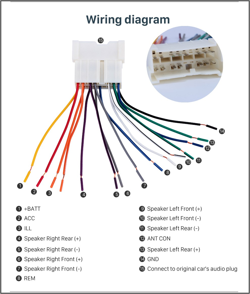 Car Stereo Wire Colors Chart Jvc