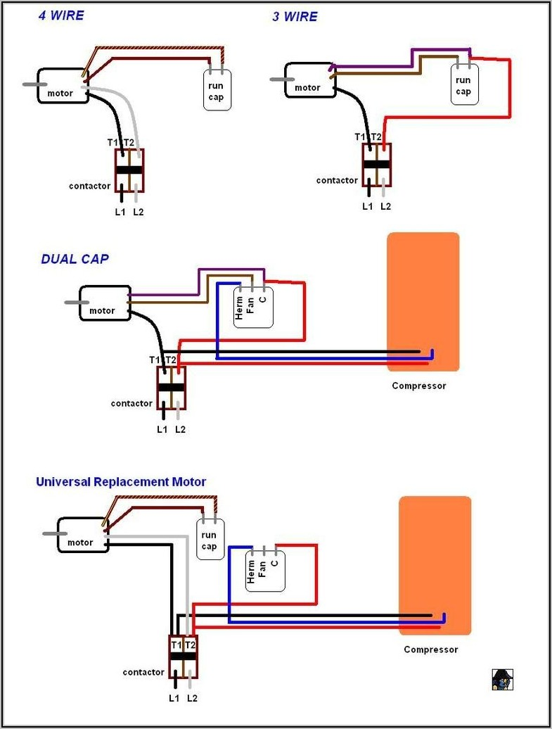 Ceiling Fan 4 Wire Capacitor Wiring Diagram