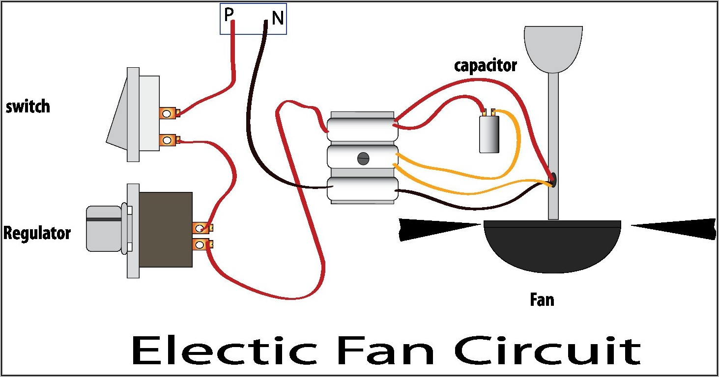 Ceiling Fan Wiring Capacitor Schematic