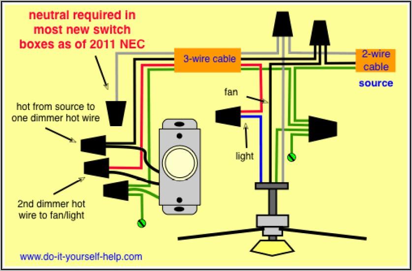 Ceiling Fan Wiring Diagram Uk