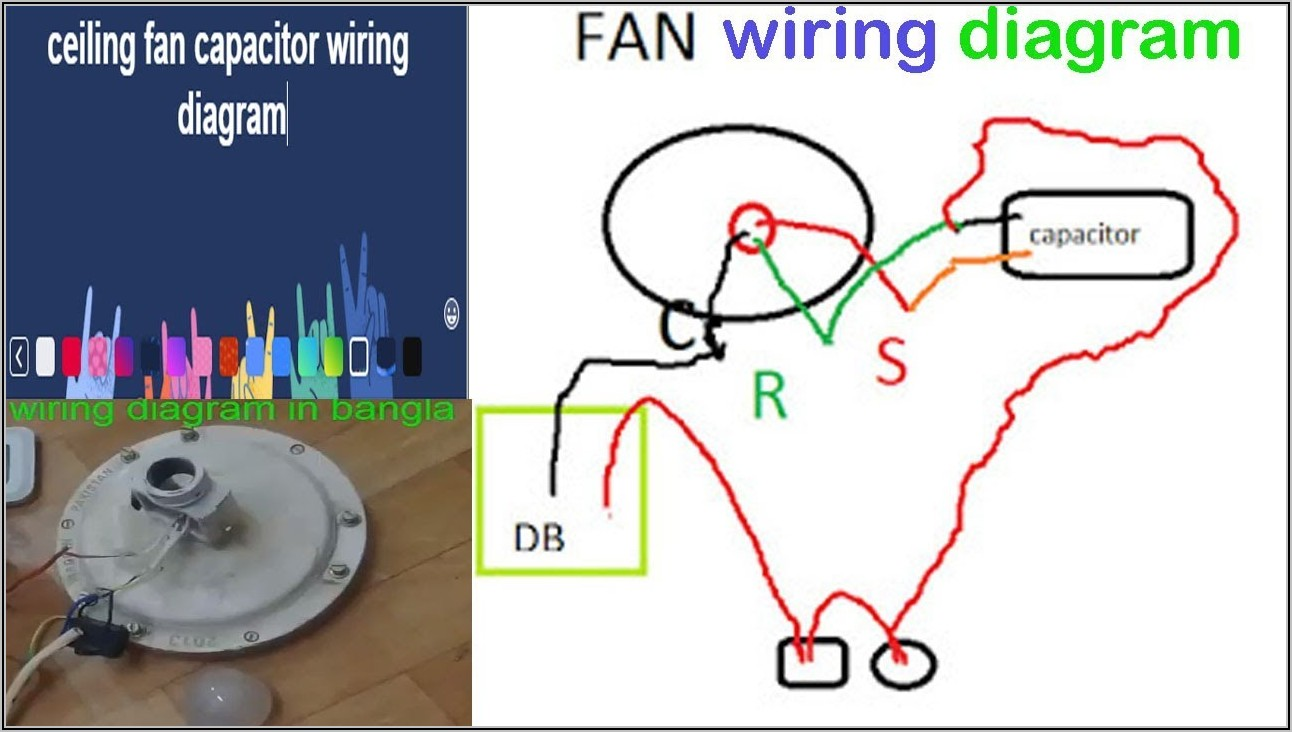 Ceiling Fan Wiring Diagram With Capacitor Pdf