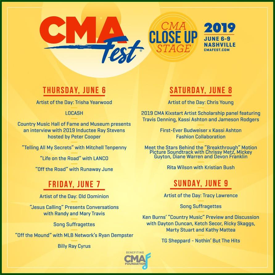 Cma Fest 2019 Lineup Announcement