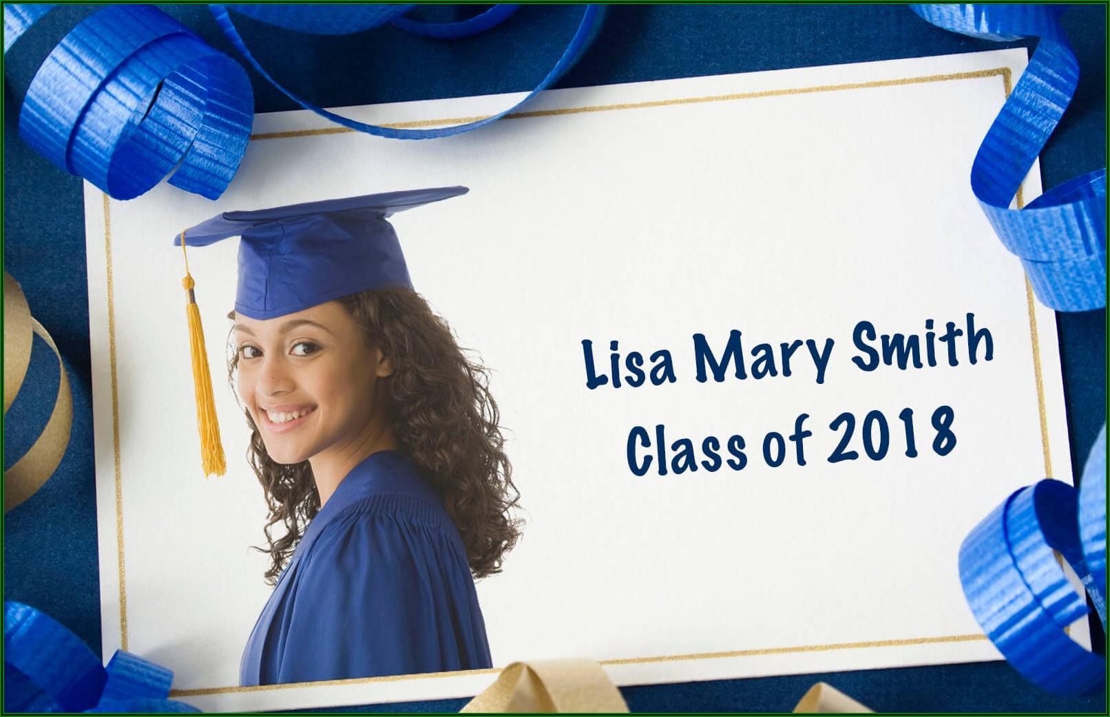 College Graduation Announcement Edicate