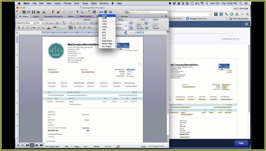 Customizable Quickbooks Invoice Templates