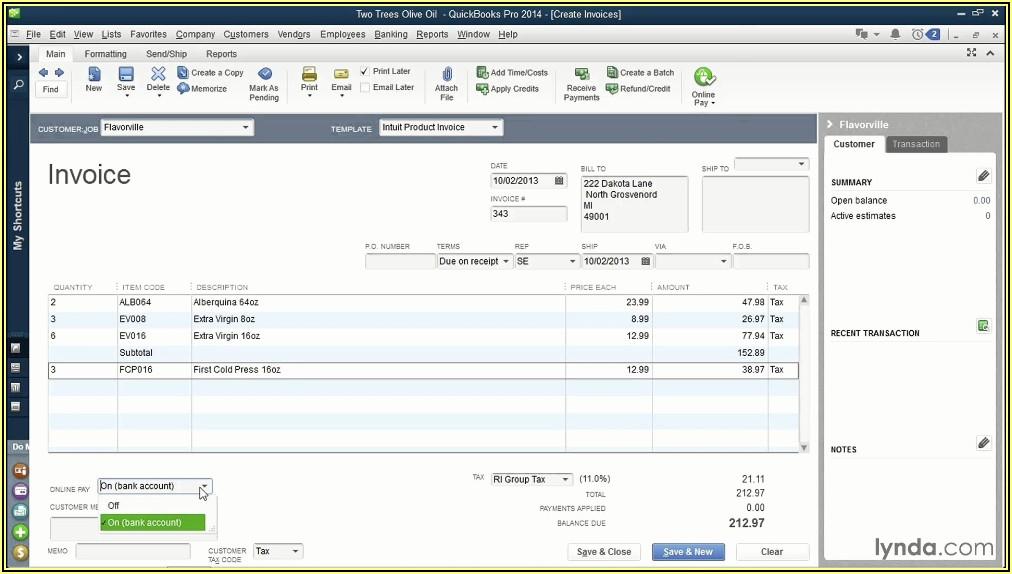 Customize Quickbooks Online Invoice Templates