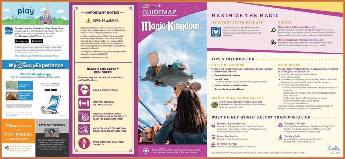 Disney World Brochure 2019