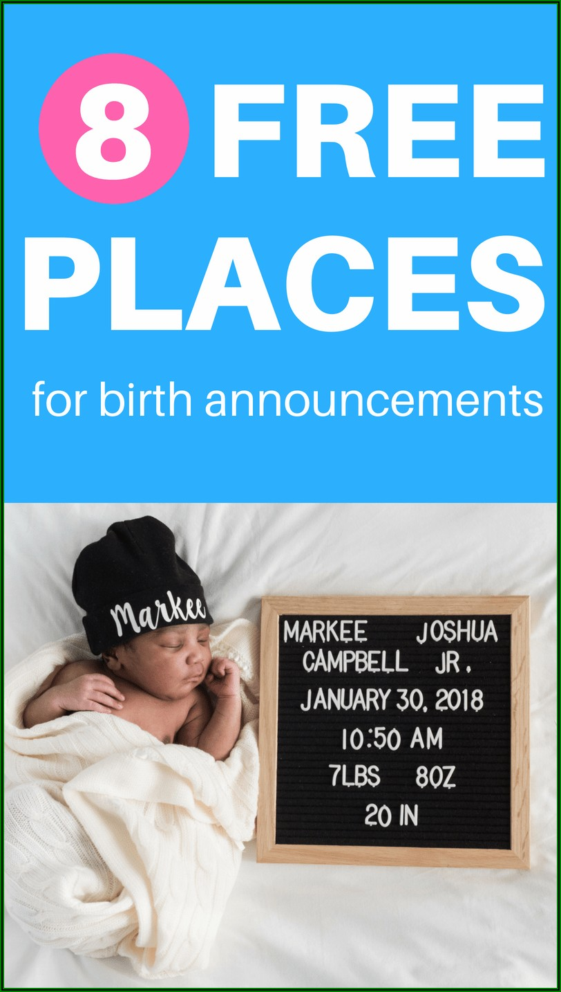Downloadable Pregnancy Announcement Template Free