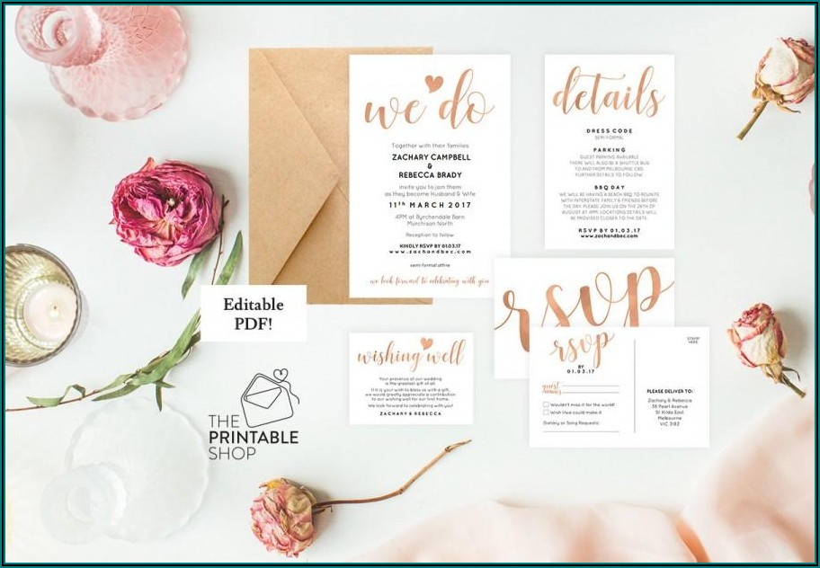 Editable Floral Wedding Invitation Templates Free Download