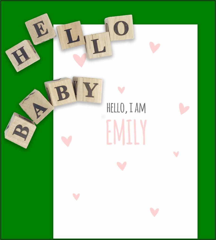 Editable Pregnancy Announcement Template Free