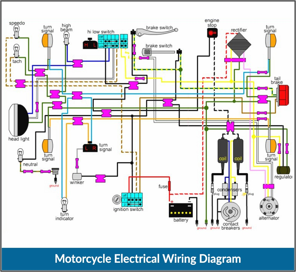 Electrical Wiring Diagram For Motorcycle