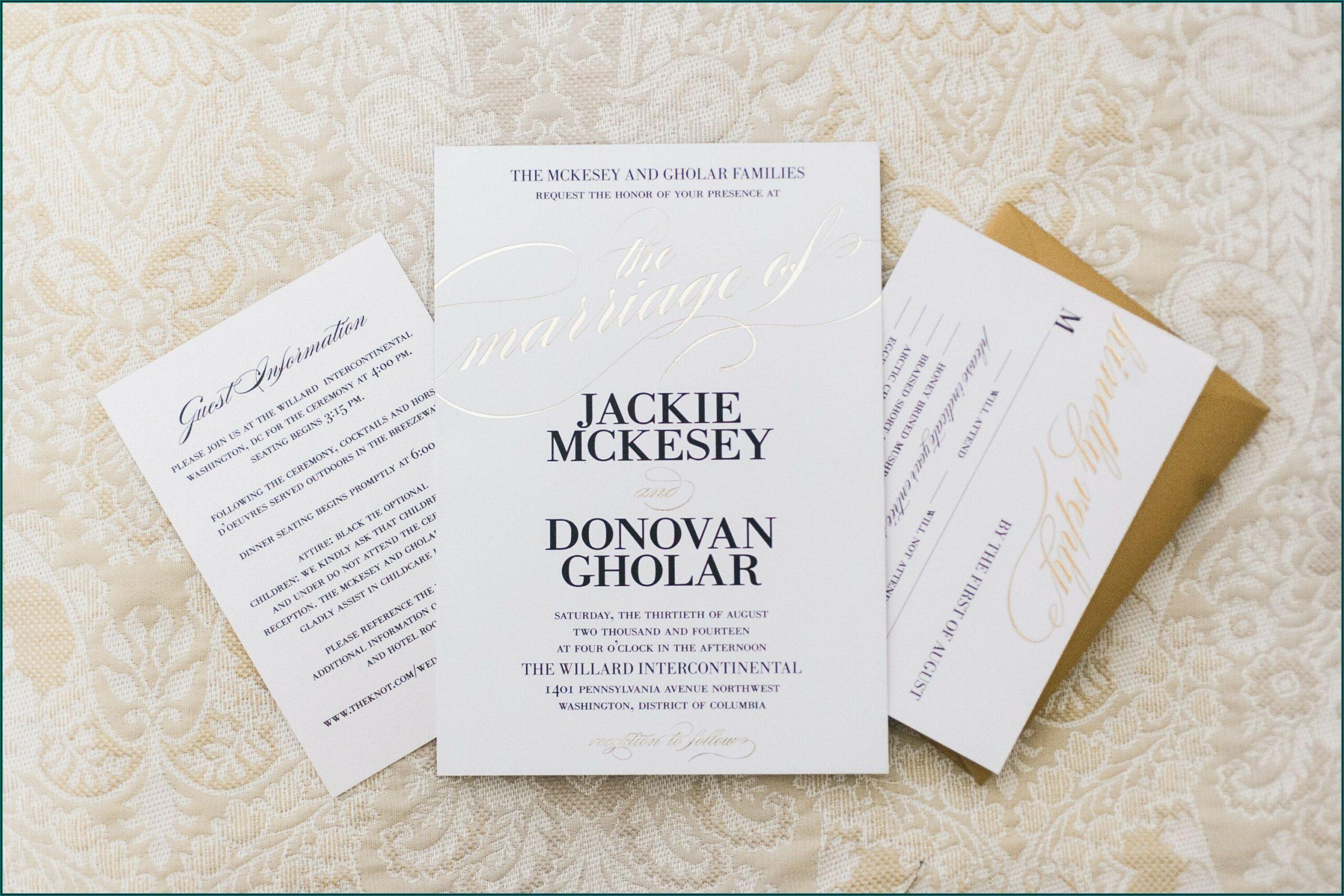Elegant Black And Gold Wedding Invitations