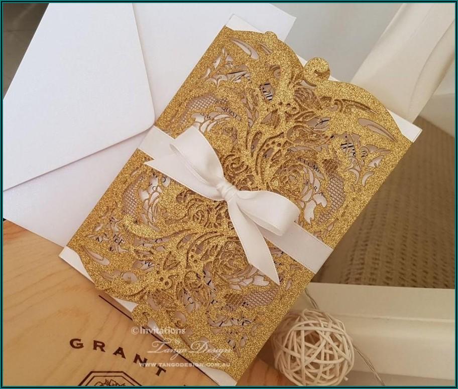 Elegant Gold Wedding Invitations