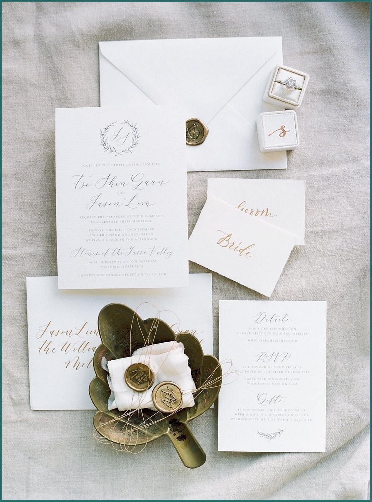 Elegant Wedding Invitations Ideas