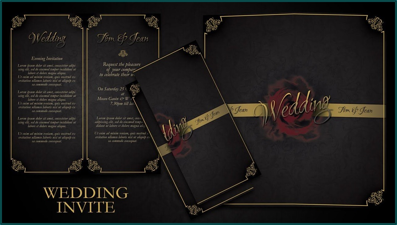 Elegant Wedding Invitations Photoshop