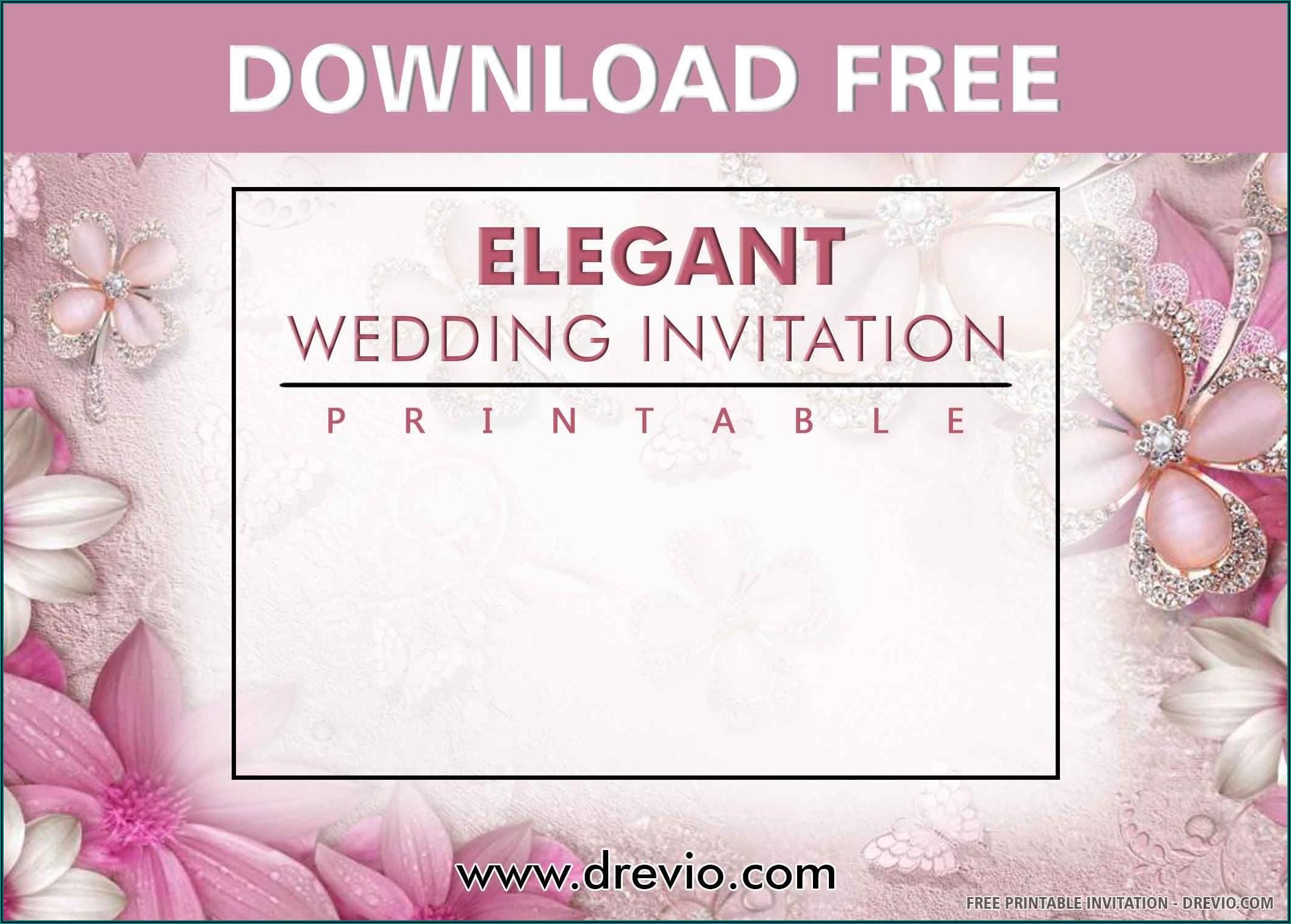 Elegant Wedding Invitations Templates Free