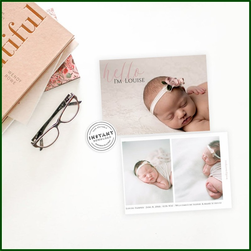 Etsy Baby Announcement Cards