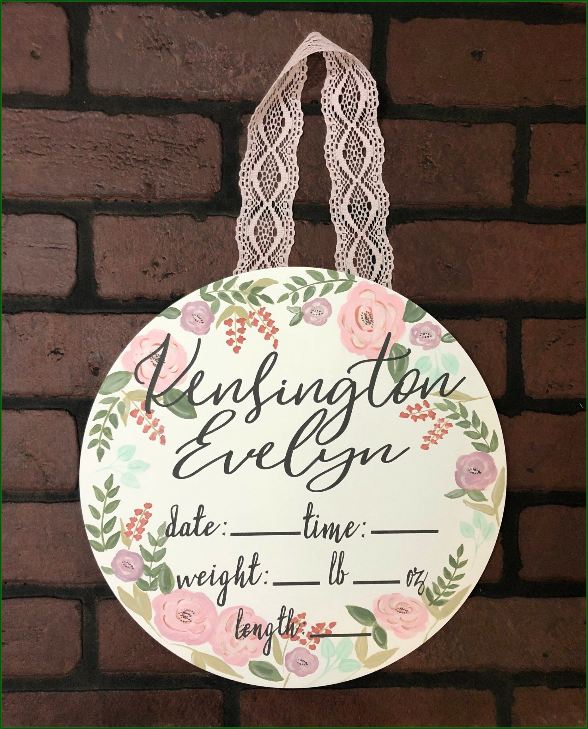 Etsy Baby Announcement Sign