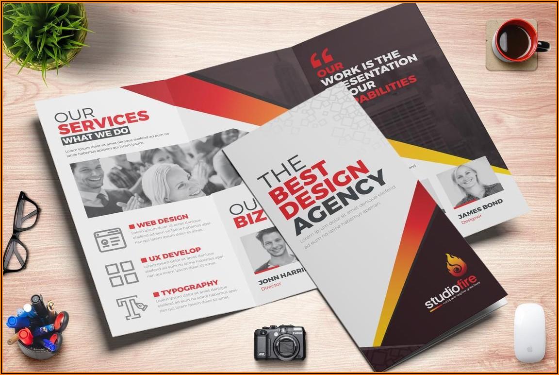 Four Fold Brochure Indesign Template