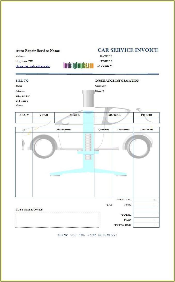 Free Auto Repair Estimate Template Forms